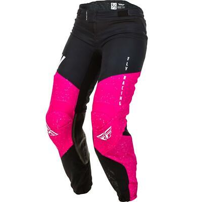 Fly Racing Girls Cross Hose Lite Neonpink/Schwarz