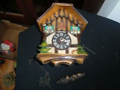Antique Black Forest Style German Cuckoo Clock - Sold As Spares/Restoration Etc