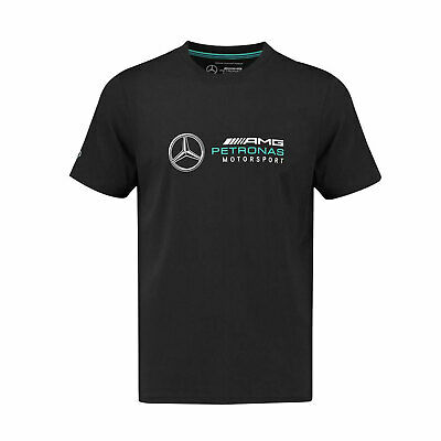 Mercedes AMG Petronas F1 Team Mens Logo T-shirt Black - XS