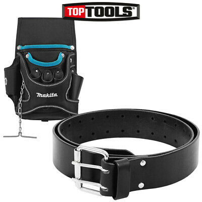 Makita P-71738 Screwdriver Tool Pouch Holder + Leather Tool Pouch Holder Belt