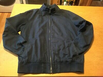 Ben Sherman Black Harrington Bomber Jacket - Men's Size L Ska,mod/scooter