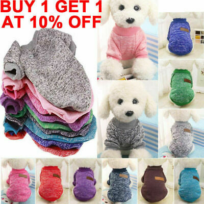 UK Fashion Knitted Puppy Dog Jumper Sweater Warm Pet Clothes For Small Dogs Coat