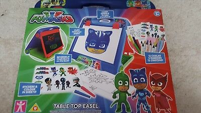 pj masks table top easel with accesories new