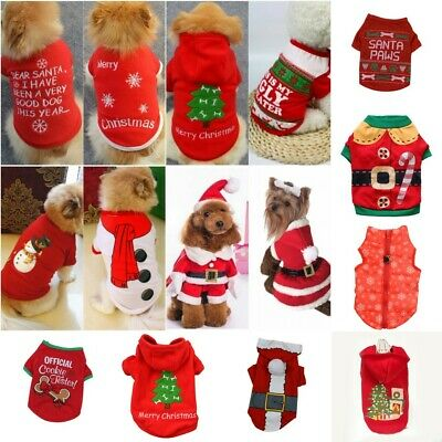 Small Dog Clothes Christmas Costume Cute Clothes For Puppy Dog Cloth Costume US