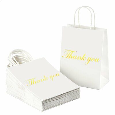 Pink Silver Gold Rose Paper Gift Bags Jewelry Merchandise Shopping 8.5x11 100pcs