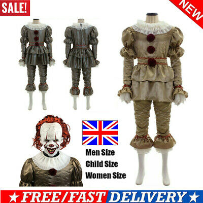 Movie It: Chapter Two Pennywise Cosplay Clown Halloween Costumes Kid Adult Suits