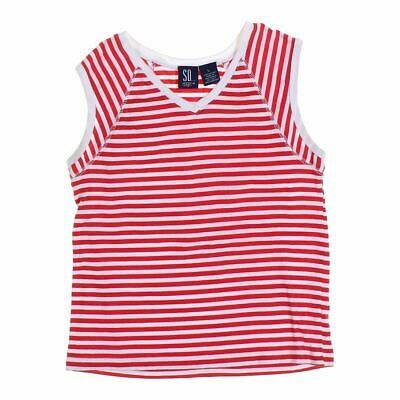 SO Girls  Shirt size 12,  red, white,  cotton