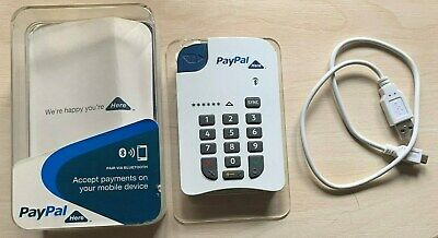 PayPal Here Card Reader, Lead & Ins, in Plastic Storage Box