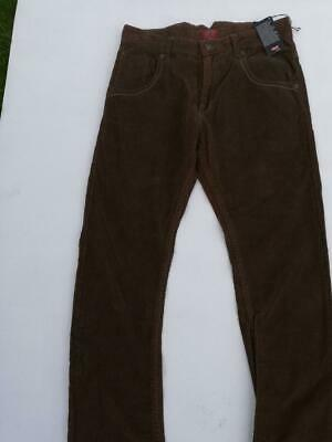 LEVI'S Red Tab Unisex Kids Straight Tapered Leg Cord Jeans, Brown 12yr W28/L28""