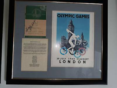 Olympic Memorabilia - signed Athletics programme by Shirley Strickland