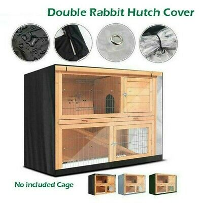 UK 4FT Waterproof Large Double Rabbit Hutch Cover Guinea Pig Deluxe Pet Covers