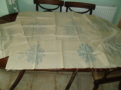 4 Pieces Vintage Linen With Transfers