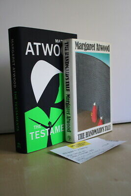 Margaret Atwood, Handmaid's Tale + Testaments, both UK signed first editions 1/1