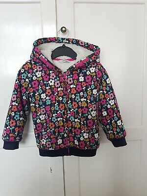 George At Asda Girls floral Coat Size 2-3 Years