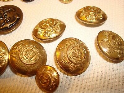 Vintage Mixed Lot Metal Buttons Some Brass