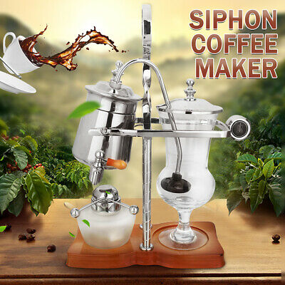 Silver Belgian Luxury Royal Family Balance Coffee Maker Syphon Siphon Classic