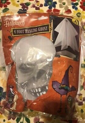 Halloween 4ft Hanging Ghost Brand New In Sealed Bag HALLOWEEN DECORATIONS