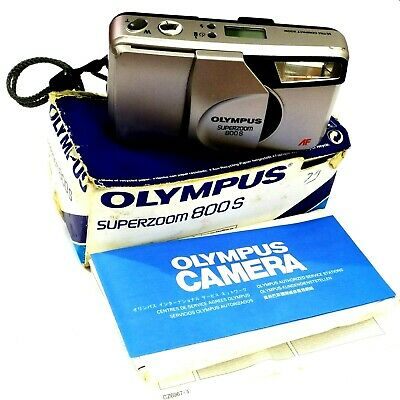 Olympus Superzoom 800S 35mm Film Camera 38-80mm AF Zoom In Box+Manual *Untested*