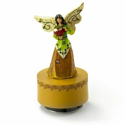 Willow Tree Figurines Collection – Sculpted Musical Angel Holding A Red Heart