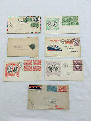 Job Lot x 7 USA Covers Envelopes Covers & Postal History 1930's USED S390