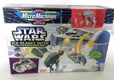 Micro Machines Star Wars Ice Planet Hoth Playset - Galoob, 1993, New/Sealed Box