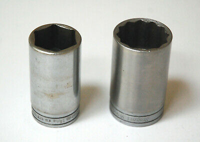 "Two Snap-on 1/2"" Drive Deep Sockets TS421 6 Point 1-5/16"" & S481 12 Point 1-1/2"""