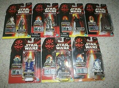 Hasbro Star Wars 1999 Episode 1 Figure Lot Of 7 All MOC New TC-14 R2-B1 & More