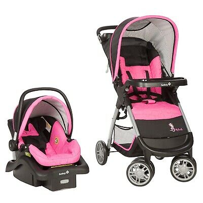 Baby Girl Stroller With Car Seat Base Combo Pink Travel System Set Minnie Pop 279 99 Picclick