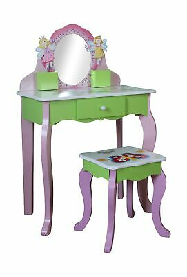 Liberty House Toys Butterfly Dressing Table and Stool, Pink .