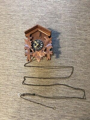 Vintage Cuckoo Clock Wall Mount For Parts Or Repair