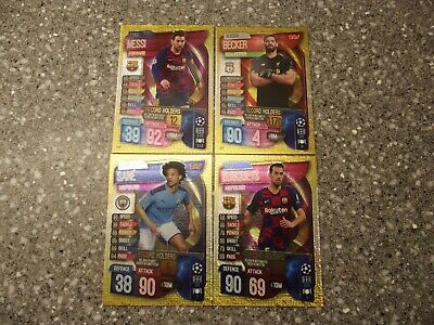 Topps Match Attax 19/20 Champions&Europa League Record Holders X 4 Cards Full Se