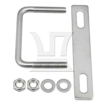 M10x80x70 Stainless Steel Square Shape U-Bolts for Marine Boat Deck Hardware