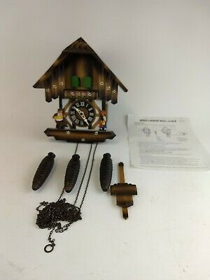 Nice Working German Black Forest Musical Edelweiss Wood Chalet Cuckoo Clock!