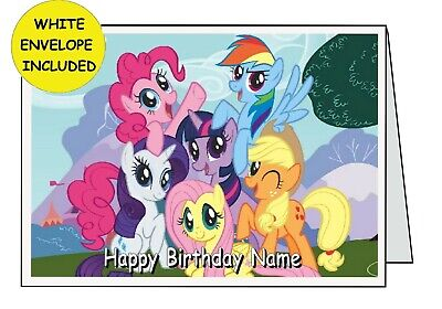 Personalised MY LITTLE PONY BIRTHDAY CARD 2nd 3rd 4th 5th 6th 7th 8th {G59} Girl