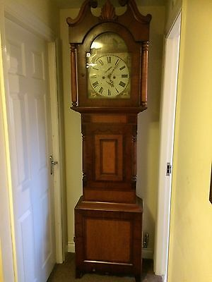 antique Matthew Ord Hexham longcase grandfather clock 8 Day 1816-1868