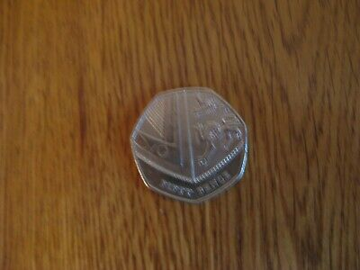 Rare 50p Fifty Pence - Shield of Royal Arms 2017 Circulated