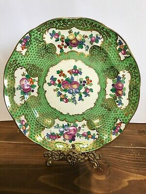 Booth's Silicon China Antique Hand Painted Cabinet Plate T. Goode 1