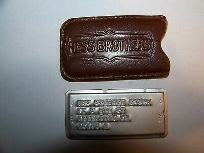 Vintage Charge Plate Hess Brothers