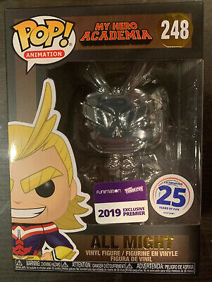 Funko Pop! Nycc 2019 Exclusive All Might Chrome Funimation My Hero Academia