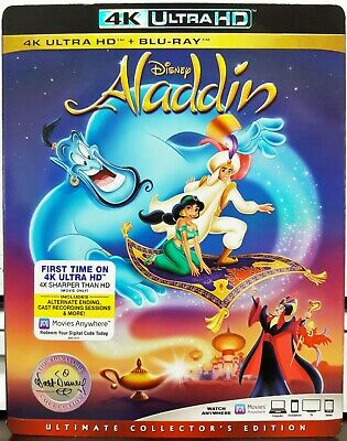 Aladdin (1992) (4K UHD + Blu-ray + Slipcover, 2019 Disney) NO DIGITAL PLS READ