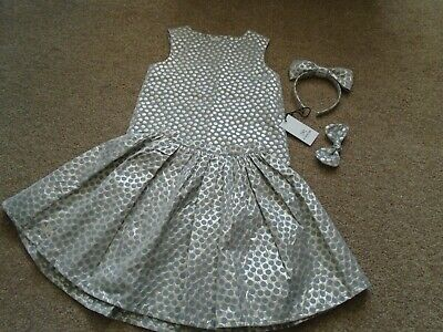 No Added Sugar Disco Spot Big Hug Top Gloria skirt 9-10 gold headband and bow!