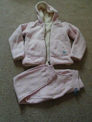 Mini Boden girls bundle pink gold reversible shaggy hoody jogging bottoms 9-10