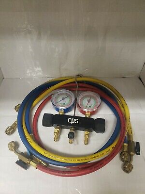 CPS Charging And Testing Manifold With Gauges And Pro-Set Hoses R-410A R22 R404a
