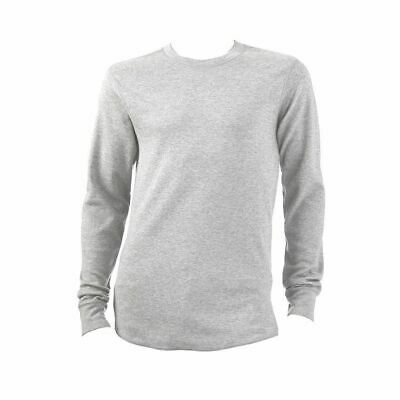 NEW Croft & Barrow GRAY HEATHER Long Sleeved Thermal Crew FREE SHIPPING
