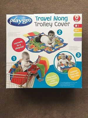 ❤ Playgro Travel Along Trolley High Chair Cover Playmat Multi Use 0m+ BPA Free ❤