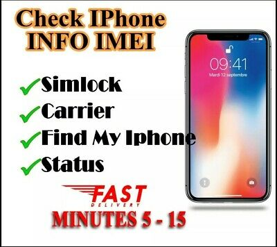 IPhone IMEI Info Checker Simlock Find My Phone Carrier Icloud Status Fast Check