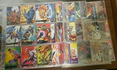 1995 Fleer Ultra X-Men Base Cards And Inserts Marvel Comic Cards