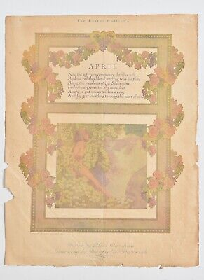 Maxfield Parrish Magazine art, The Easter Collier's, 1911, Verse: Bliss Carman