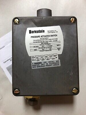 Barksdale B2T-A32SS Pressure Switch 160-3200PSI