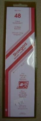 Showgard size 48 clear hingeless stamp mount NEW unopened pack 1st quality 215mm